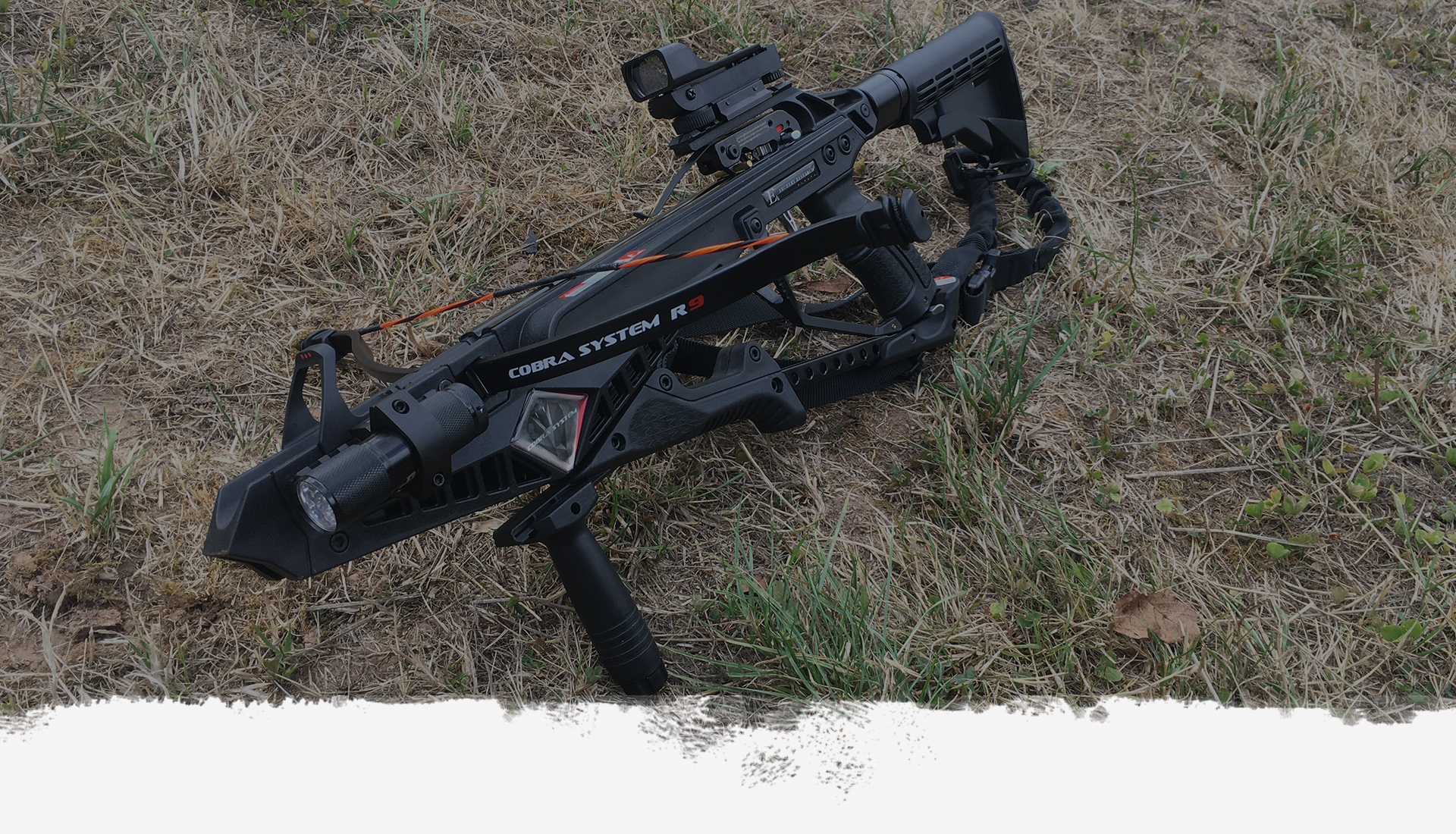 crossbow on ground
